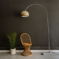 Arc Lamp with Marble Base
